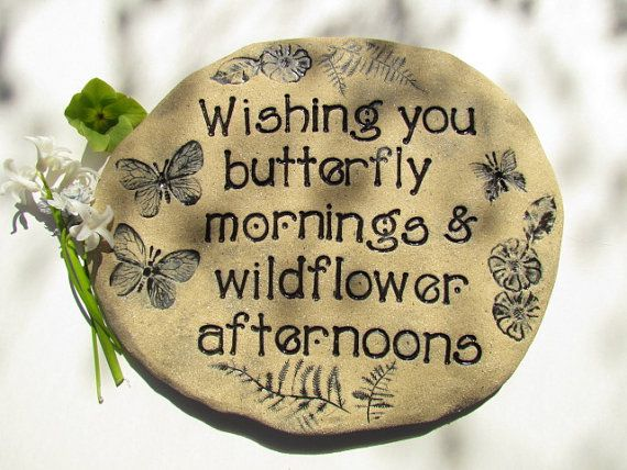 Butterfly mornings and Wildflower afternoons  dreamy by Poemstones, $70.00