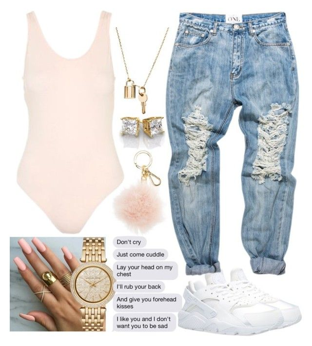 """Oop."" by lilmama1250 ❤ liked on Polyvore featuring Topshop, MICHAEL Michael Kors, NIKE and Michael Kors"