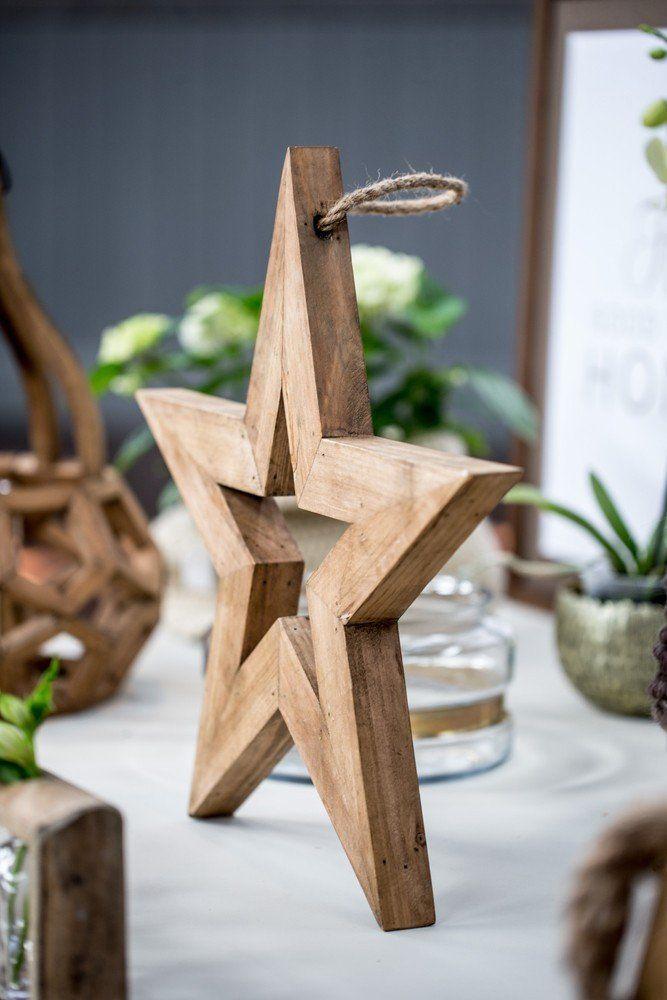Wooden Standing Star, Medium