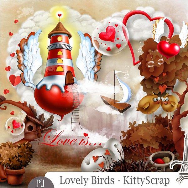 Le Blog de kittyscrap: ESSENTIEL -  Lovely Birds