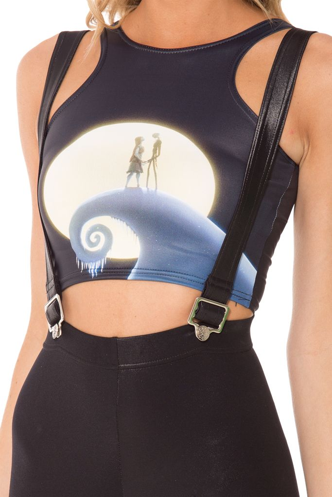 Jack and Sally Reversible Crop (WW $55AUD / US $50USD) by Black Milk Clothing