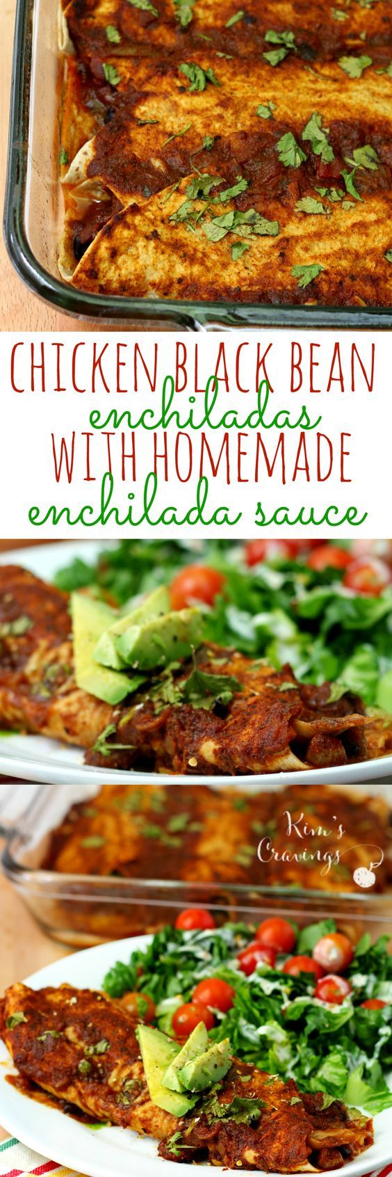 Gluten-free, dairy-free chicken black bean enchiladas are super simple to throw together and cook up quickly. Add the homemade enchilada sauce for even more delicious flavor. #KingOfFlavor Ad
