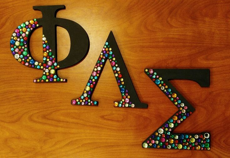 Love your letters, phi sigma forever