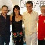 Leonardo Medeiros, Giovanna Antonelli, Chico Buarque e o diretor Walter Carvalho: presença ilustre