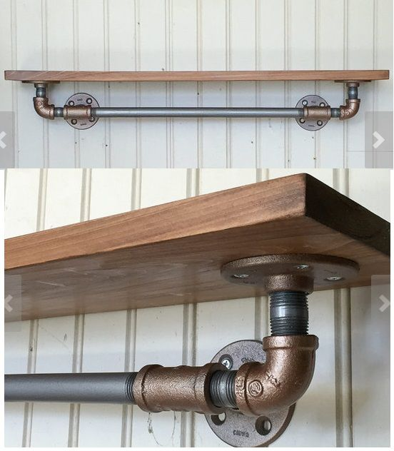 shelving Urban Industrial Galvanised Pipe Shelf scaffold board