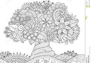 Il Giardino E Degli Alberi Da Colorare Mekan Info Con Mandala Alberi
