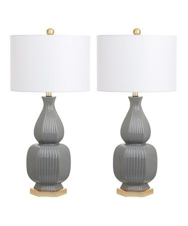 cleo table lamp set of two zulily zulilyfinds 140 design rh pinterest com