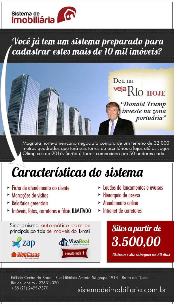 Magnata norte-americano negocia a compra de um terreno de 32 000 metros quadrados que terá seis torres de escritórios e lojas até os Jogos Olímpicos de 2016