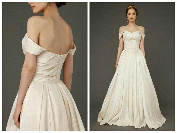 Ivory linen wedding dresses