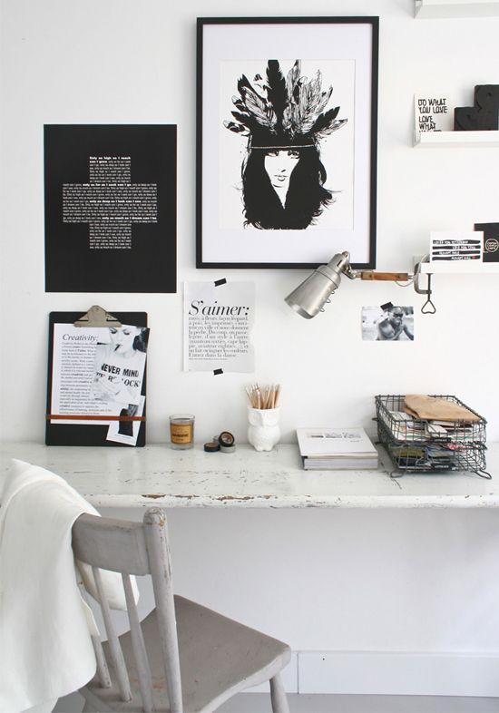 Hallo, witte werkplek | Wooninspiratie