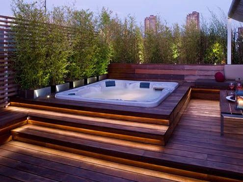 61 best jacuzzi exterior images on pinterest types of for Construir jacuzzi exterior