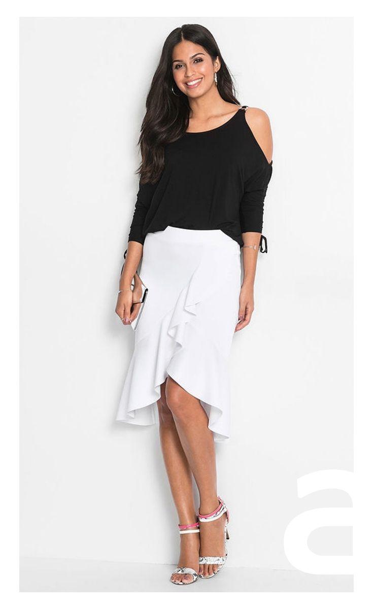 4468aeb3 stylizacja damska, spódnica midi, elegancka spódnica, spódnica ...
