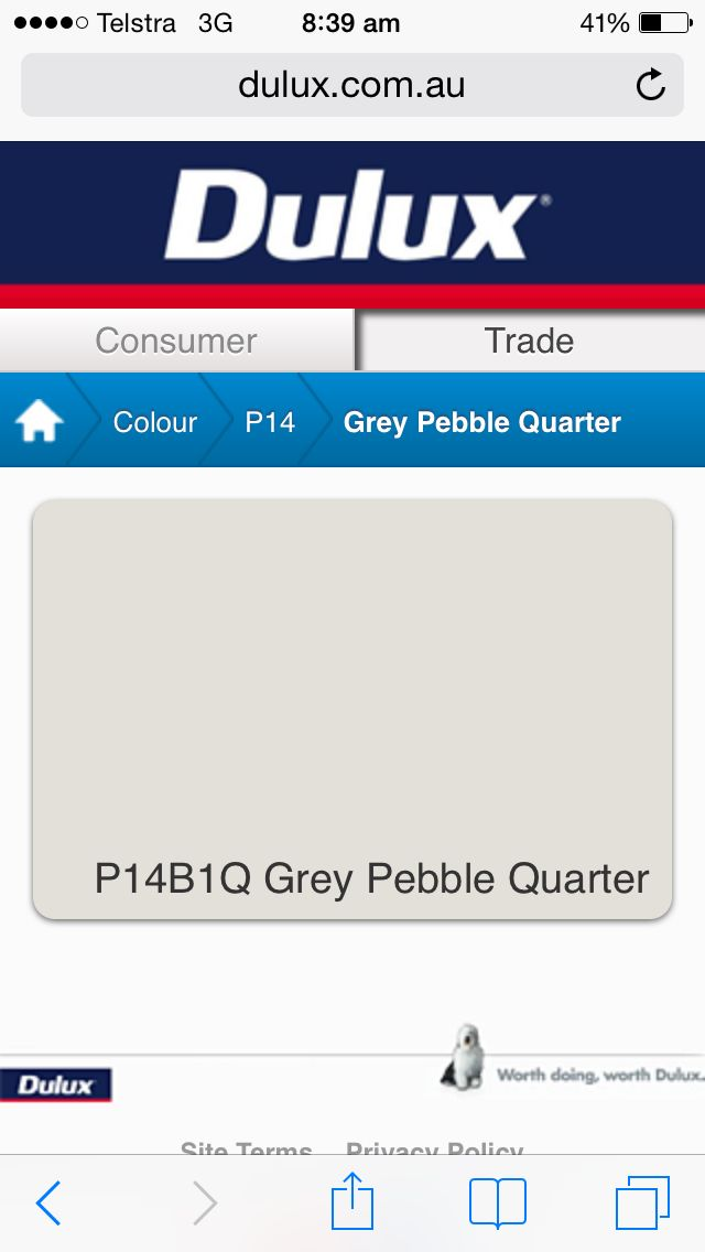 Dulux Grey Pebble Quarter