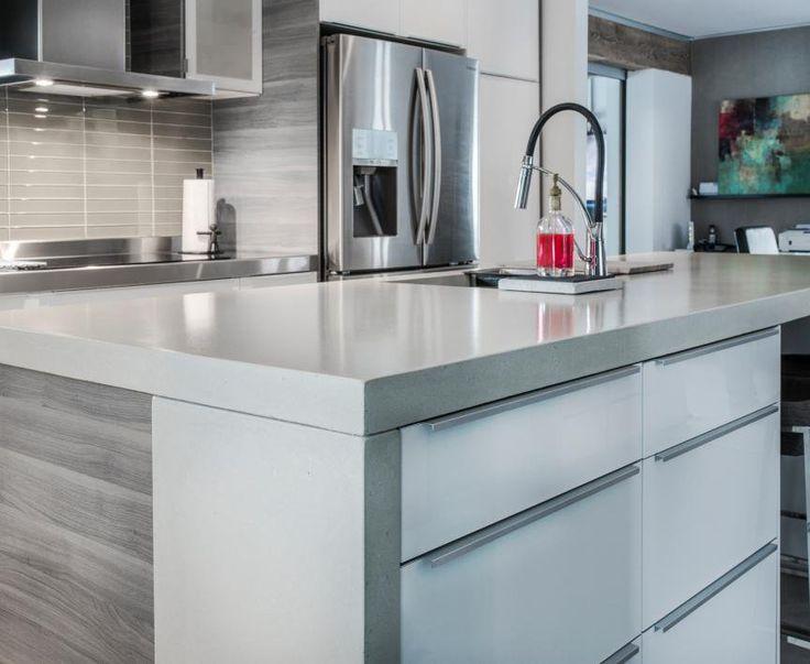 17 meilleures id es propos de comptoirs de cuisine en b ton sur pinterest vier de cuisine - Keuken recup ...