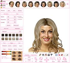 The hairstyler.com.  For the ultimate risk-free way to find your perfect hairdo, try the Virtual Hairstyler!