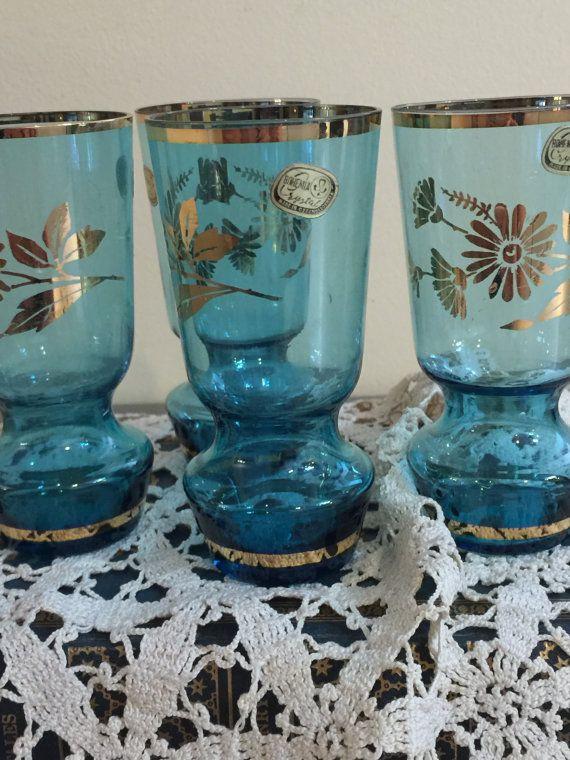 Bohemia Crystal Vintage  Liquor Glasses  Set by PineStreetPickers