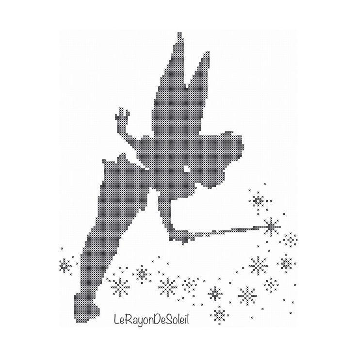 Cross stitch pattern Tinker Bell Peter Pan door LeRayonDeSoleil