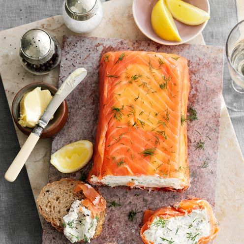 Salmon and Mackerel Terrine - you can use any hot-smoked fish you like for the creamy filling.