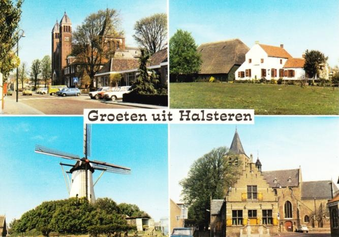Postcard sent to the USA - Halsteren (The Netherlands)