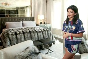"""Kylie Jenner gave a tour of her """"really personal"""" bedroom on her website -- see photos from the chic room!"""