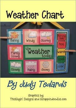 Daily Weather Chart for Calendar Activities -- This would be a great tool to incorporate when learning about weather patterns in different parts of the worl d.