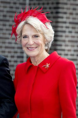 Posted on October 5, 2013 by HatQueen ..Prince Jaime of Bourbon Parma (son of Princess Irene of the Netherlands) celebrated his religious marriage to Viktoria Cservenyak today. Jaime's Mother, Princess Irene, is pictured here.