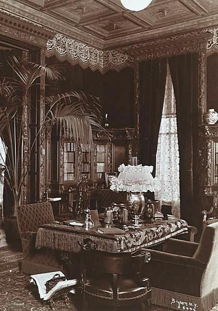 Victorian Sitting Rooms | Sitting Room At 2 East 57th Street NYC, Townhouse  Owned By