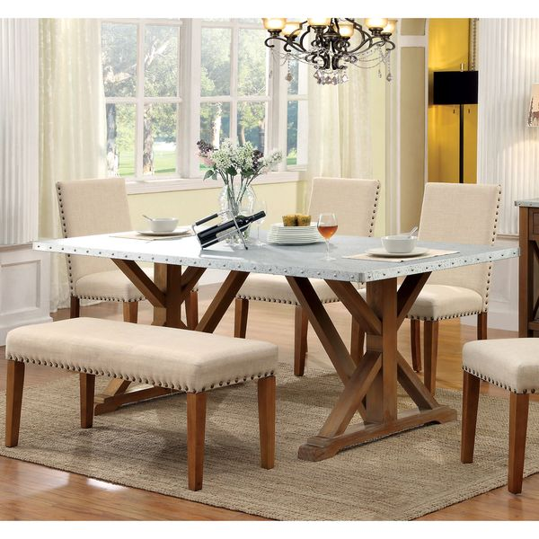 Furniture Of America Aralla Industrial Style Dining Table   Overstock  Shopping   Great Deals On Furniture