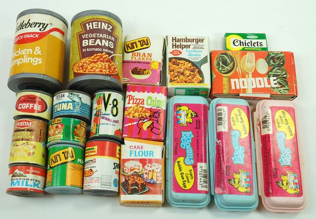 eBay Link: http://www.ebay.com/itm/Collection-of-19-Vintage-Miniature-Canned-and-Boxed-Grocery-Food-Items-/291849915799  RD12582  Go back to Tin Can Alley - FOR SALE: http://www.bagtheweb.com/b/PBdAfQ
