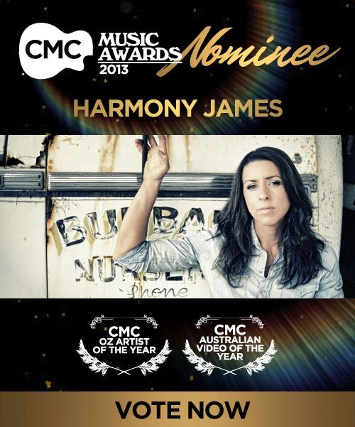 Our favourite gal of Country Harmony James has been nominated for Oz Artist of the Year and Australian Video of the Year at the Country Music Channel Music Awards. Click here to cast your vote!