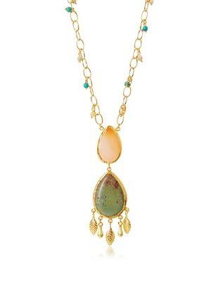63% OFF Grand Bazaar Double Pastel Agate Drop Necklace