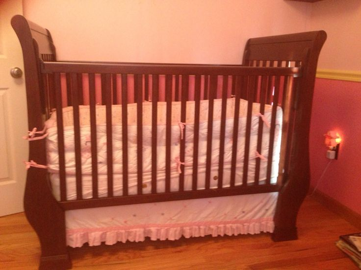 """Pottery Barn Crib in Legion's Garage Sale in Malta , NY for . Pottery Barn Crib and Mattress (pd 499.00 new) Beautifully made and incredibly versatile, the Kendall crib features Craftsman-inspired details.  57"""" wide x 32"""" long x 44"""" high Height from teething rail to the floor is 39"""" Expertly crafted of solid wood. Mattress platform offers three height options to accommodate your growing baby. Easily adapts from crib to cozy toddler bed. (Conversion Kit INCLUDED%2 ..."""
