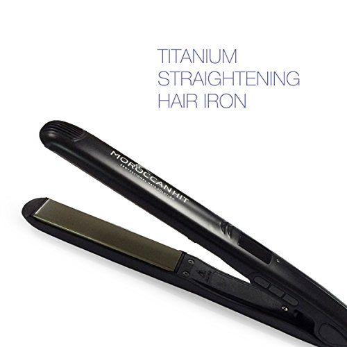 Hair Straightener  1 inch Flat Iron  Best Titanium Ceramic  Variable Temp with LCD Display for Healthy Sexy Hair by Moroccan Hit * For more information, visit image link.