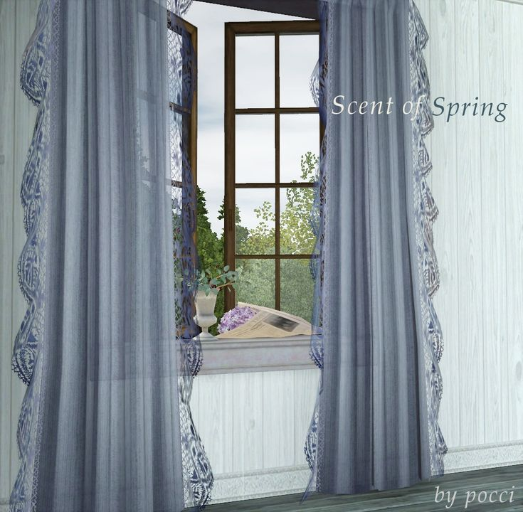 Scent of Spring - windows and curtain mini set ... | GB-backyard