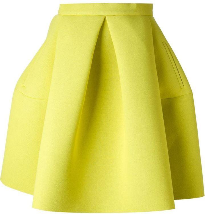 Kenzo pleated a-line skirt
