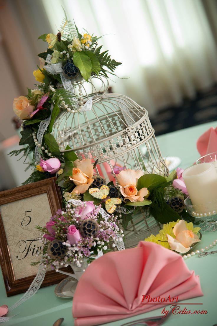 Birdcage centerpiece vintage wedding