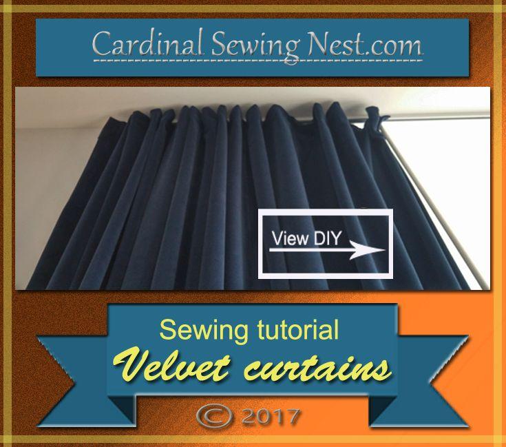DIY Sewing velvet curtains