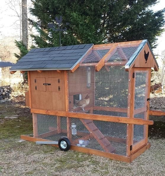 17 best ideas about portable chicken coop on pinterest for Big chicken tractor