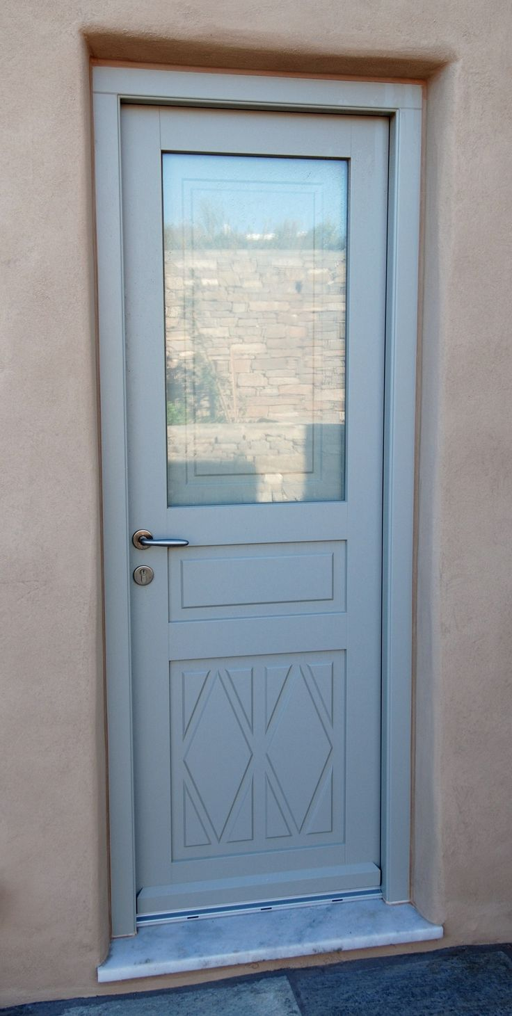 Door made with Accoya wood Paros island
