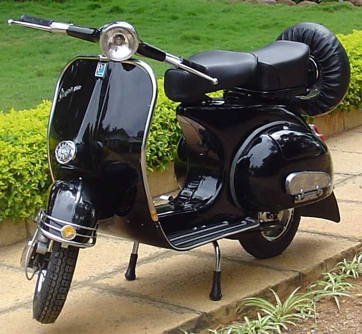 1967 Vespa - same model as Greg's. We must paint it black!