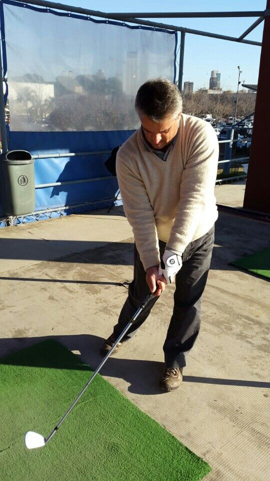 My student Claudio in Buenos Aires working on his impact position!