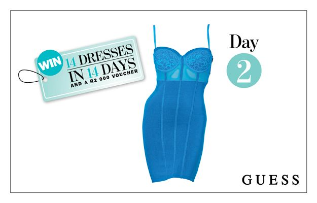 WIN: A Blue Corset Dress From GUESS