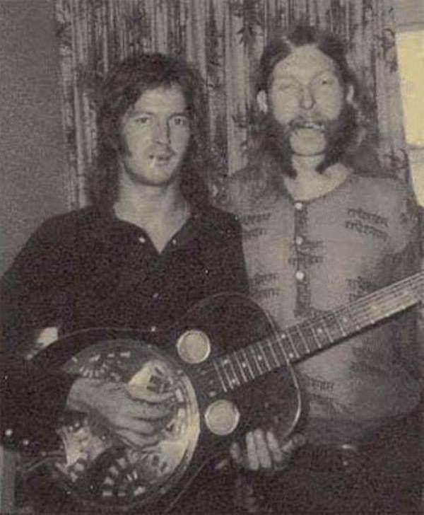Eric Clapton & Duane Allman with Dobro resonator ...one of my favorite pics.