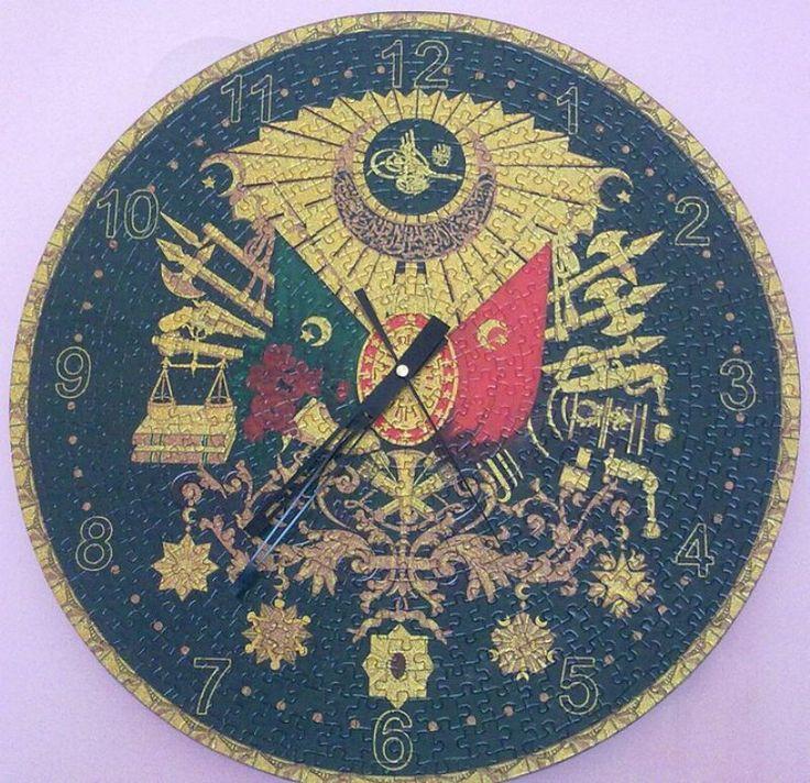 """""""Art Saat puzzle Osmanlı arması 570 parça"""" Hazır yapılmış ve yapıştırılmış çerçeveye hazır puzzle Aynı gün kargo!  Satın almak ve fiyat bilgisi için ürün görseli üzerine tıklayın lütfen..!!"""