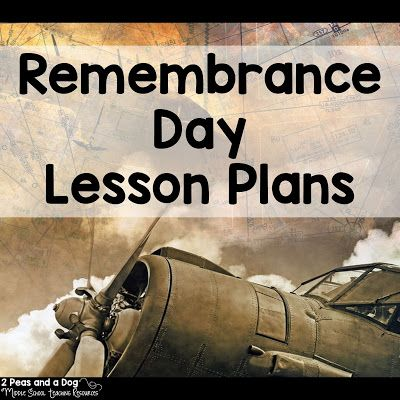 Fantastic engaging Remembrance Day lessons for all ages from the 2 Peas and a Dog blog.