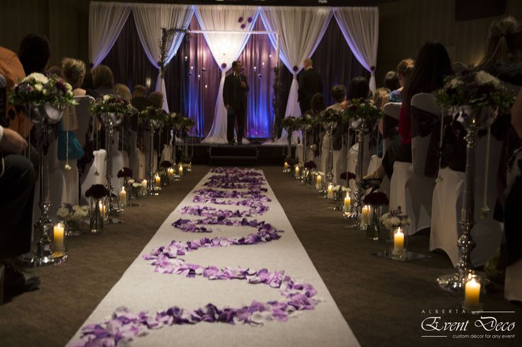 Ceremony Backdrop and Aisle