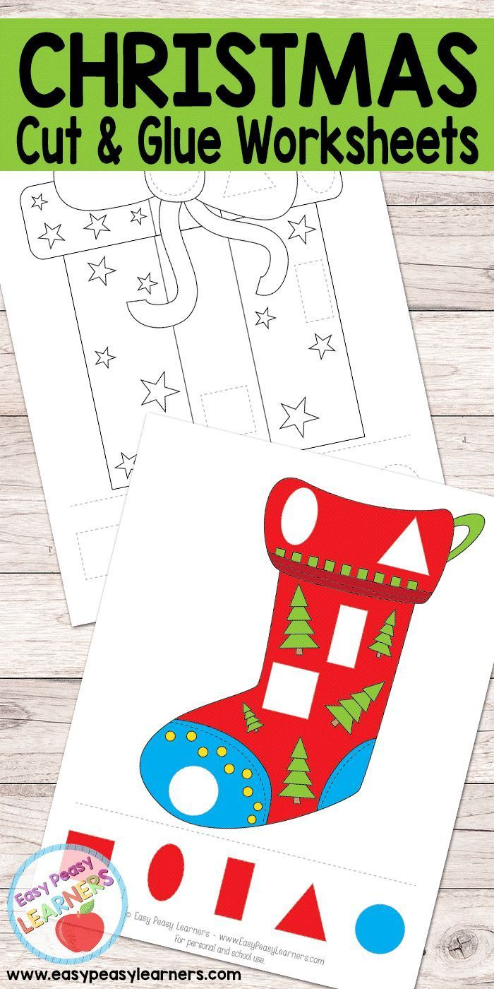 photo regarding Free Printable Christmas Crafts identified as Xmas - Reduce and Glue Worksheets Free of charge Printables for