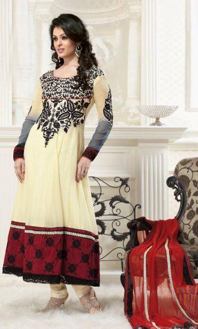 Latest Anarkali Salwar Kameez Designs 2014 For Beautiful Bride at: http://www.shadesandyou.com/product-category/readymade-suits/  #SalwarKameez #DesignerSalwarKameez #AnarkaliSalwarKameez