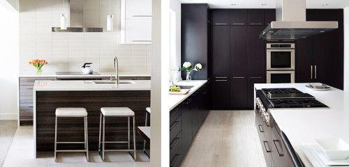 Muebles de madera oscura para decorar la cocina - Como limpiar muebles de madera de cocina ...