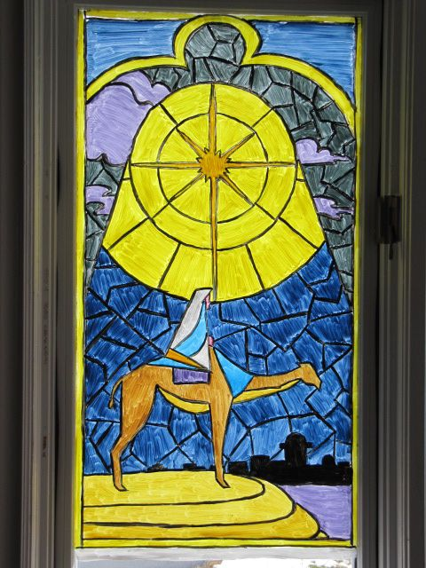 2009 Stained glass Desert Christmas Eve visitors